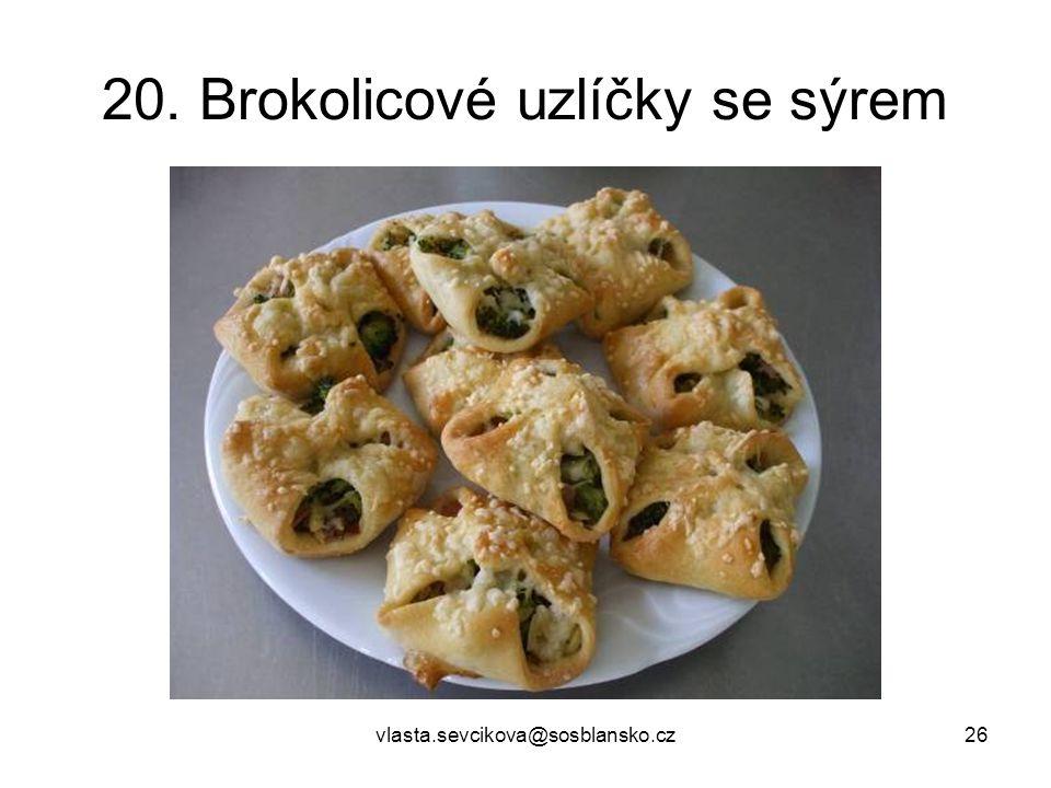 20. Brokolicové uzlíčky se sýrem