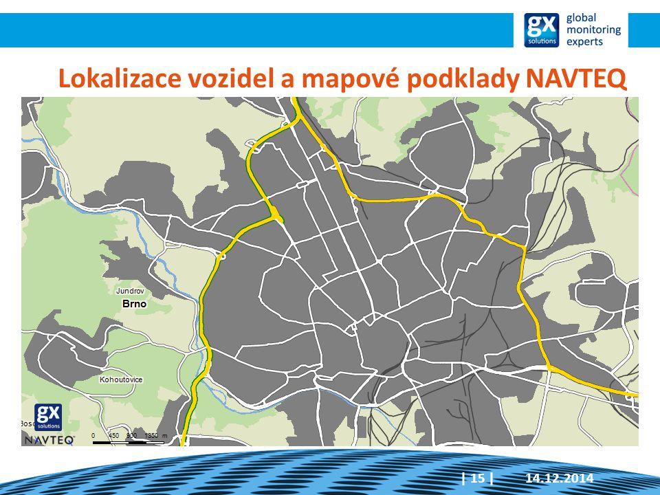 Lokalizace vozidel a mapové podklady NAVTEQ