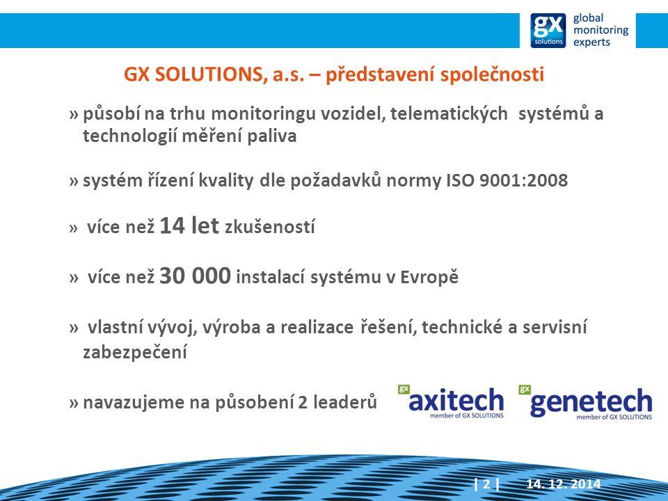 GX SOLUTIONS, a.s. – představení společnosti