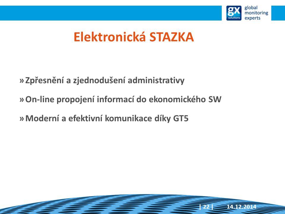 Elektronická STAZKA Zpřesnění a zjednodušení administrativy