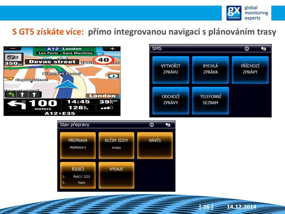 S GT5 získáte více: přímo integrovanou navigaci s plánováním trasy