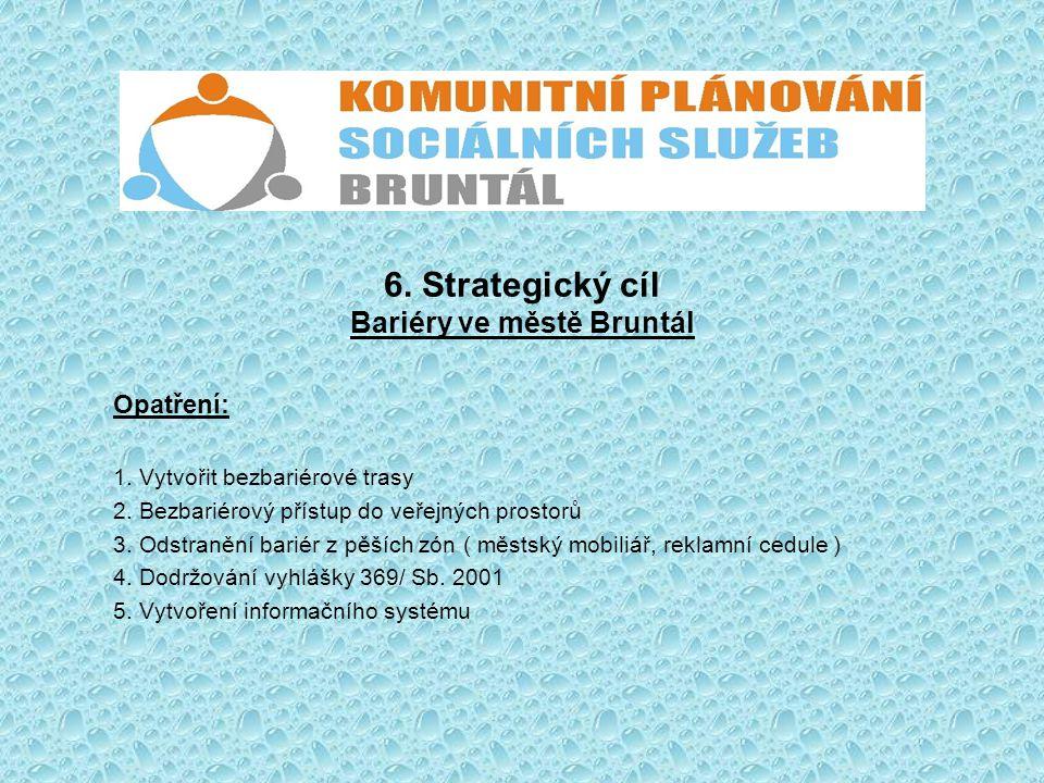 6. Strategický cíl Bariéry ve městě Bruntál