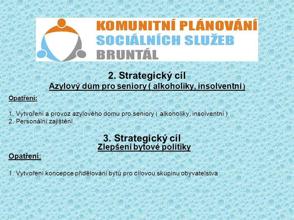2. Strategický cíl Azylový dům pro seniory ( alkoholiky, insolventní )