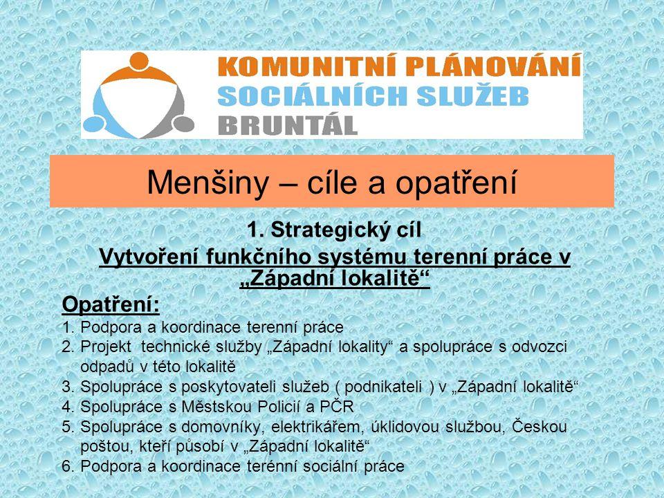Menšiny – cíle a opatření