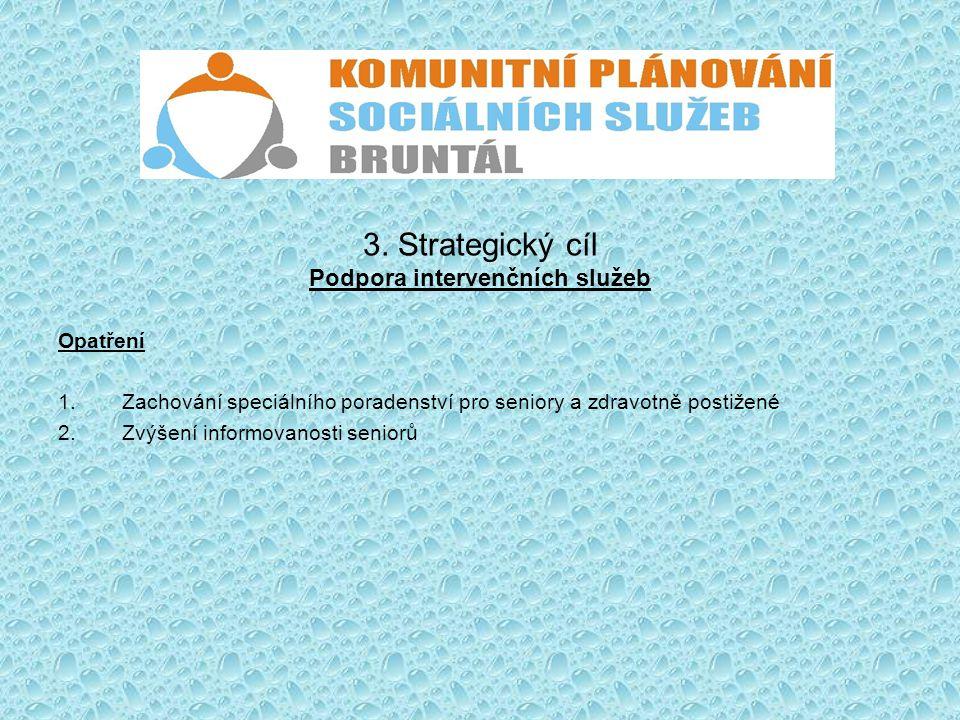 3. Strategický cíl Podpora intervenčních služeb