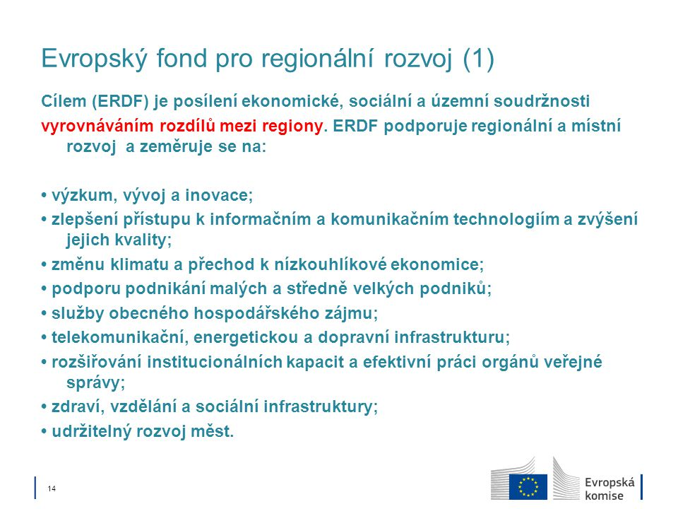 Evropský fond pro regionální rozvoj (1)