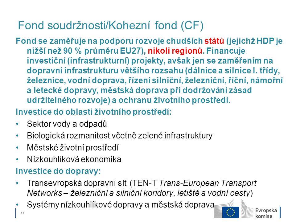 Fond soudržnosti/Kohezní fond (CF)