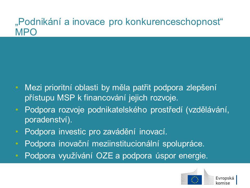 """""""Podnikání a inovace pro konkurenceschopnost MPO"""