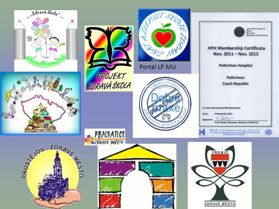 11 Zdravá škola Střítež, s mapou ČR Sochorova Duchcov, Lomnice n.Luž. Srdíčko – portál prevence MED MUNI.