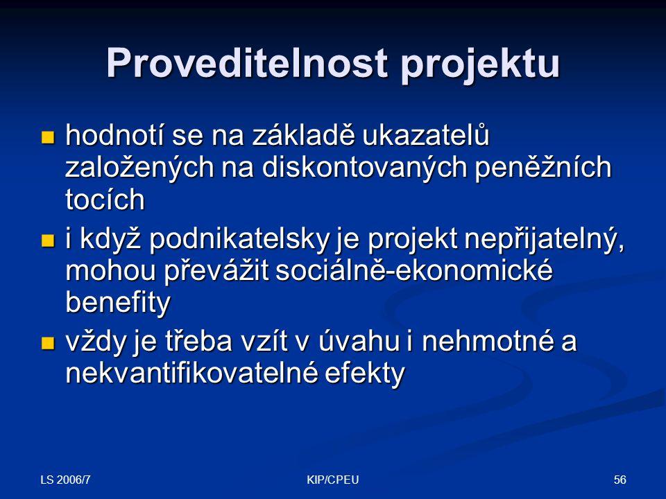 Proveditelnost projektu