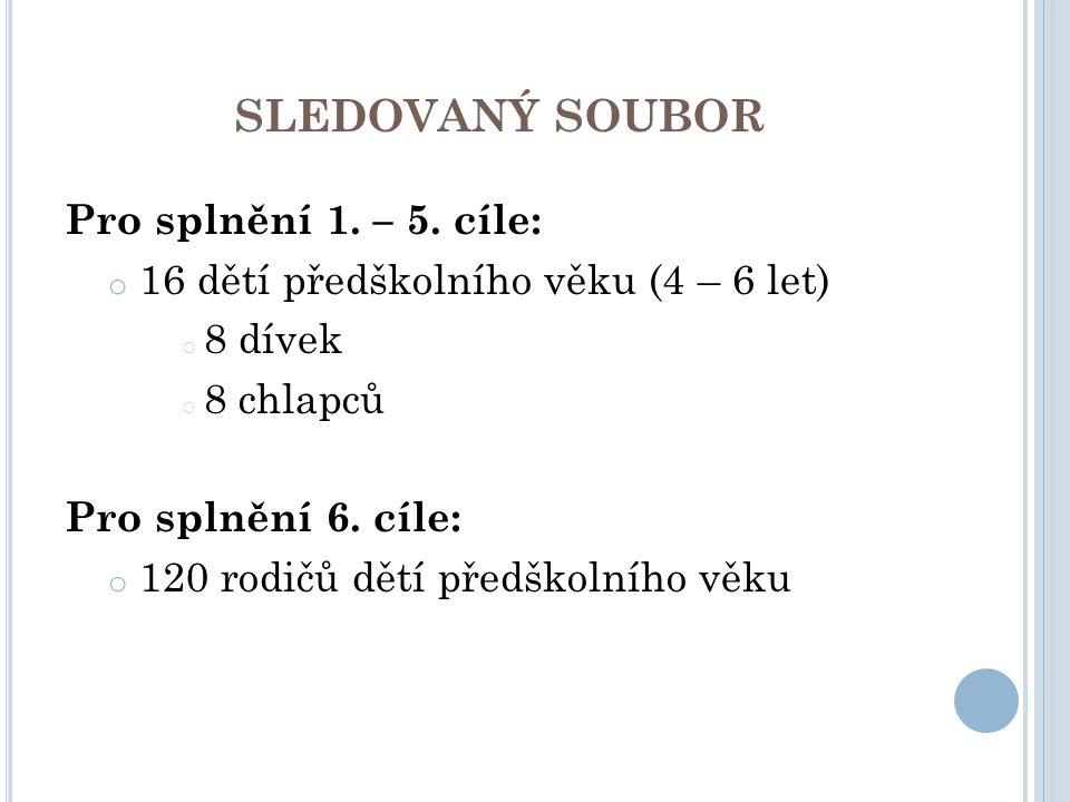 SLEDOVANÝ SOUBOR Pro splnění 1. – 5. cíle: