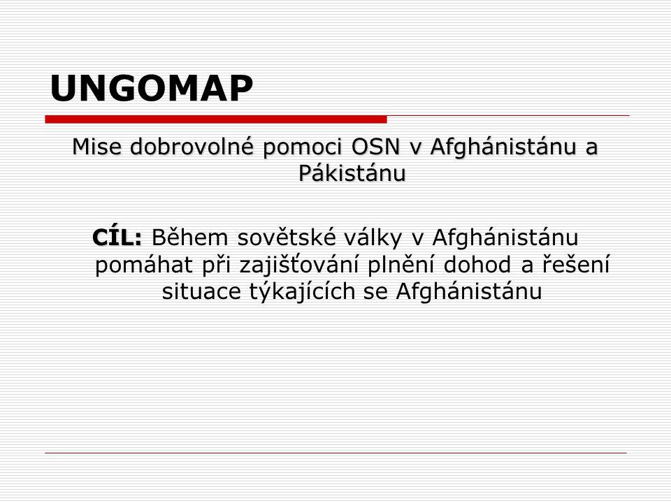 Mise dobrovolné pomoci OSN v Afghánistánu a Pákistánu