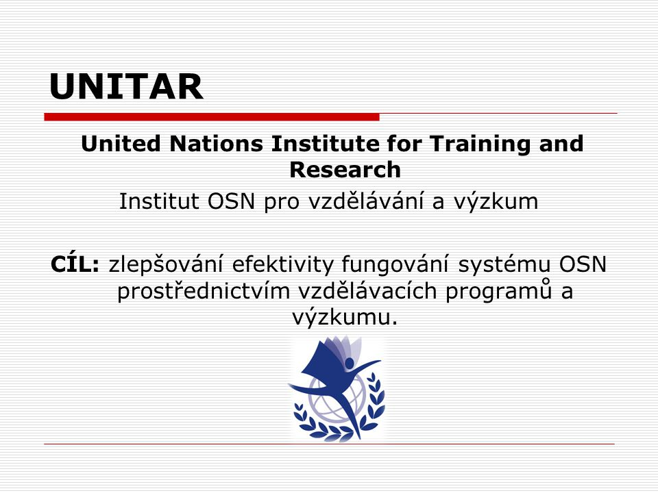 UNITAR United Nations Institute for Training and Research