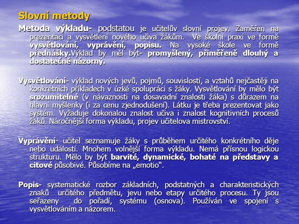 Slovní metody