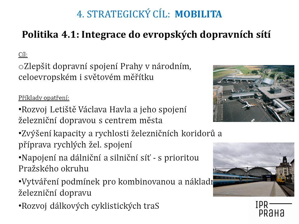 Politika 4.1: Integrace do evropských dopravních sítí