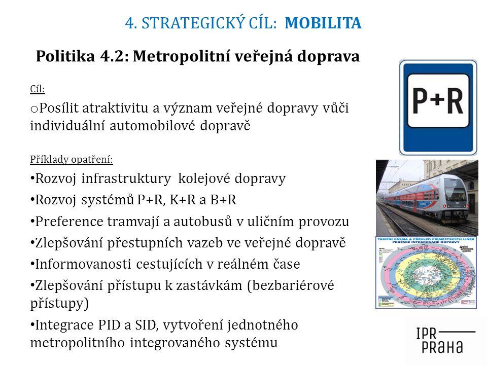 Politika 4.2: Metropolitní veřejná doprava