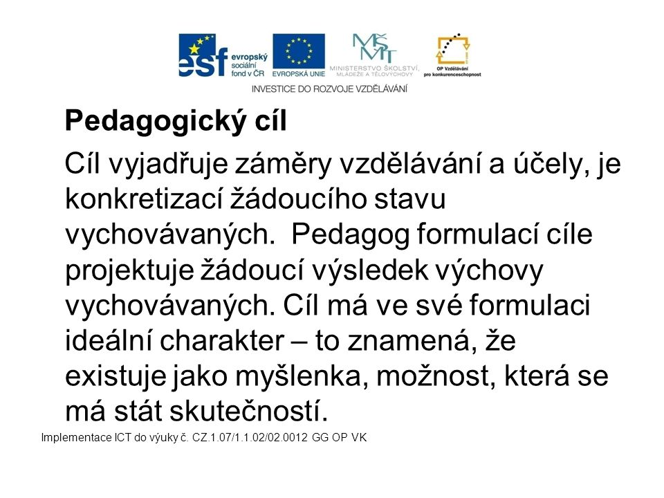 Pedagogický cíl