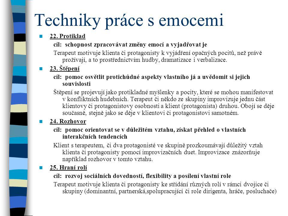 Techniky práce s emocemi
