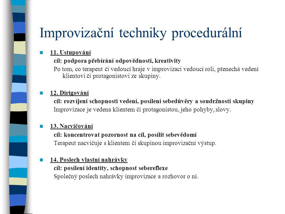 Improvizační techniky procedurální