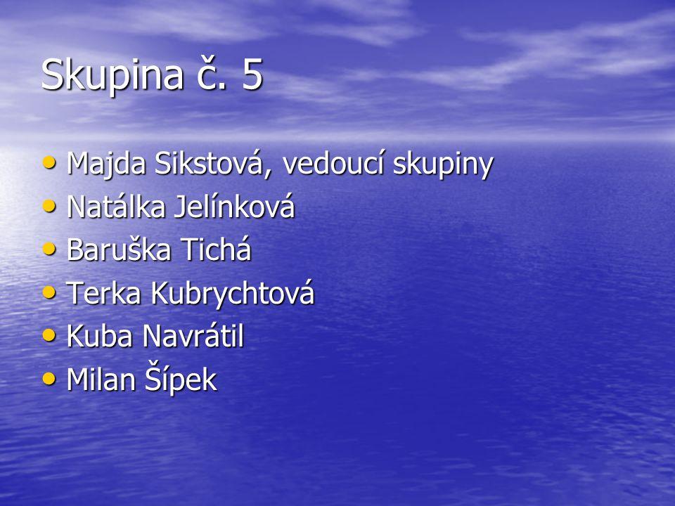 Skupina č. 5 Majda Sikstová, vedoucí skupiny Natálka Jelínková