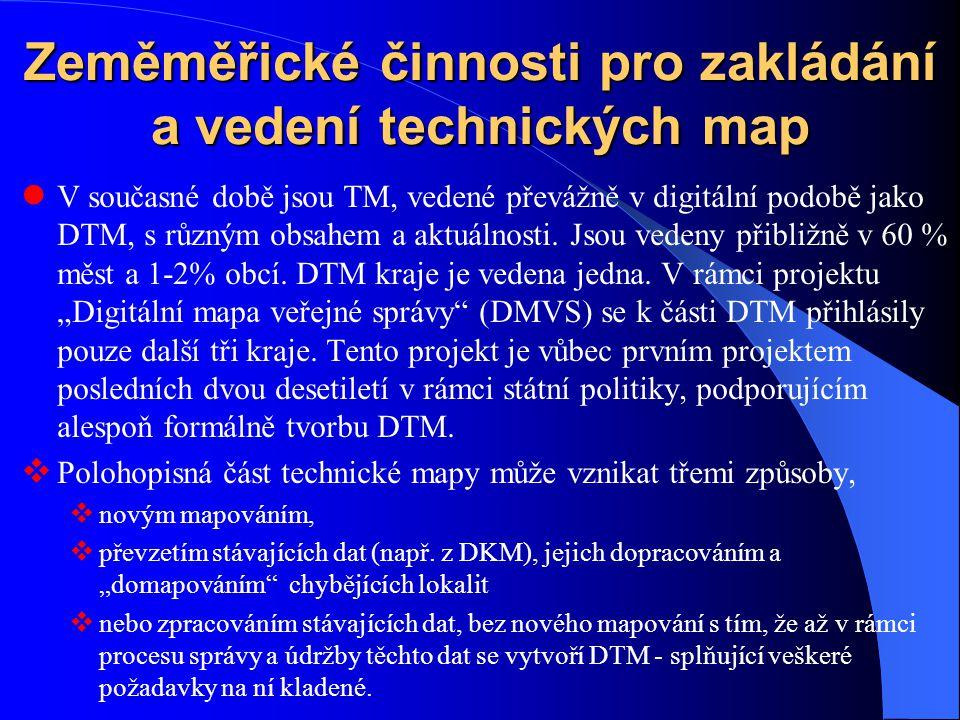 Zeměměřické činnosti pro zakládání a vedení technických map