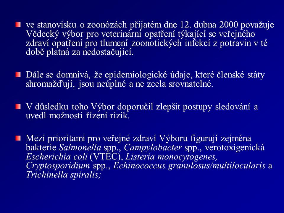 ve stanovisku o zoonózách přijatém dne 12