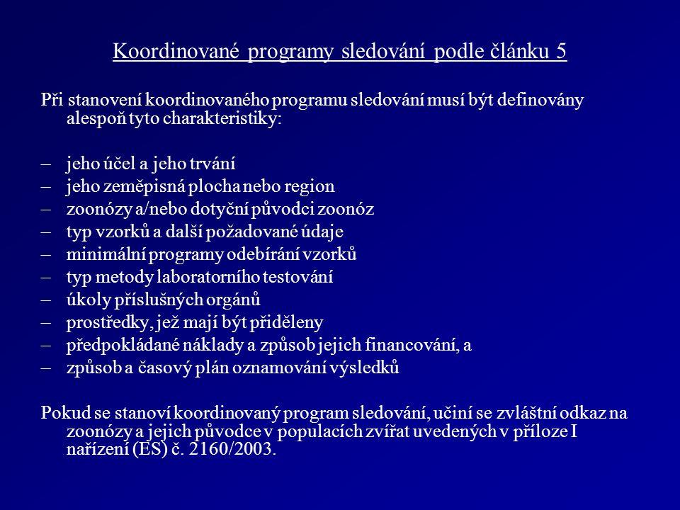 Koordinované programy sledování podle článku 5