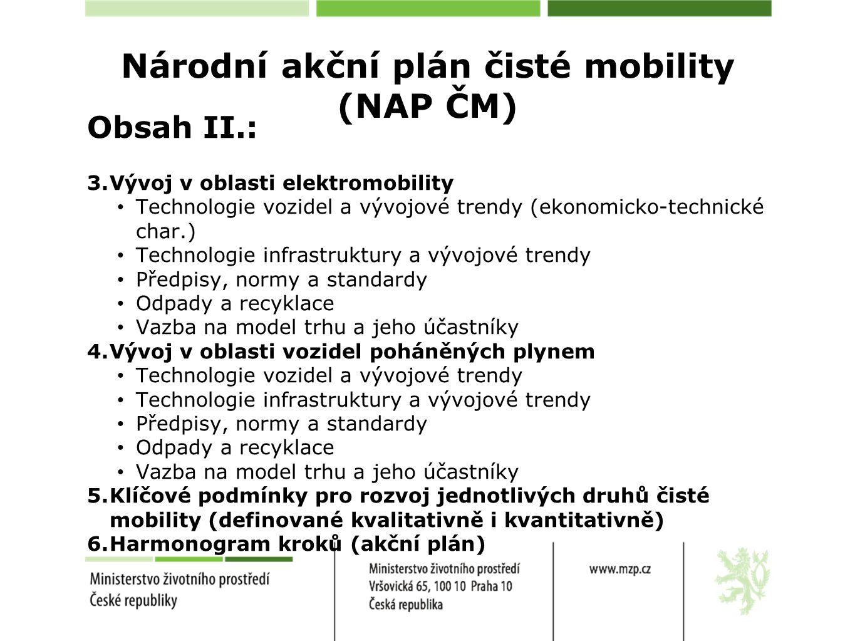 Národní akční plán čisté mobility (NAP ČM)
