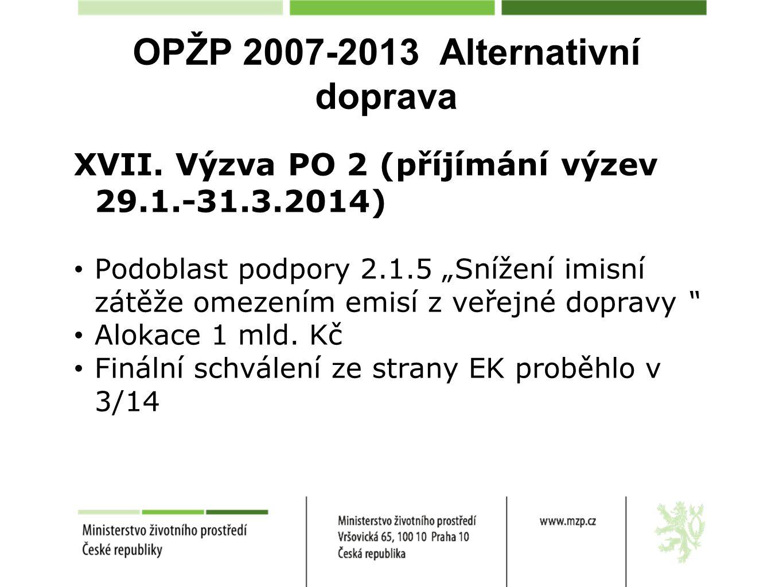 OPŽP 2007-2013 Alternativní doprava