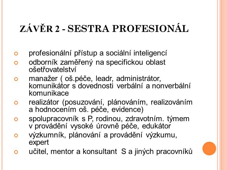 ZÁVĚR 2 - SESTRA PROFESIONÁL