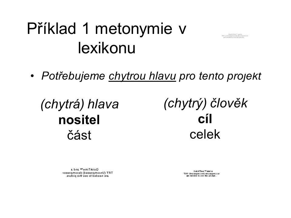 Příklad 1 metonymie v lexikonu