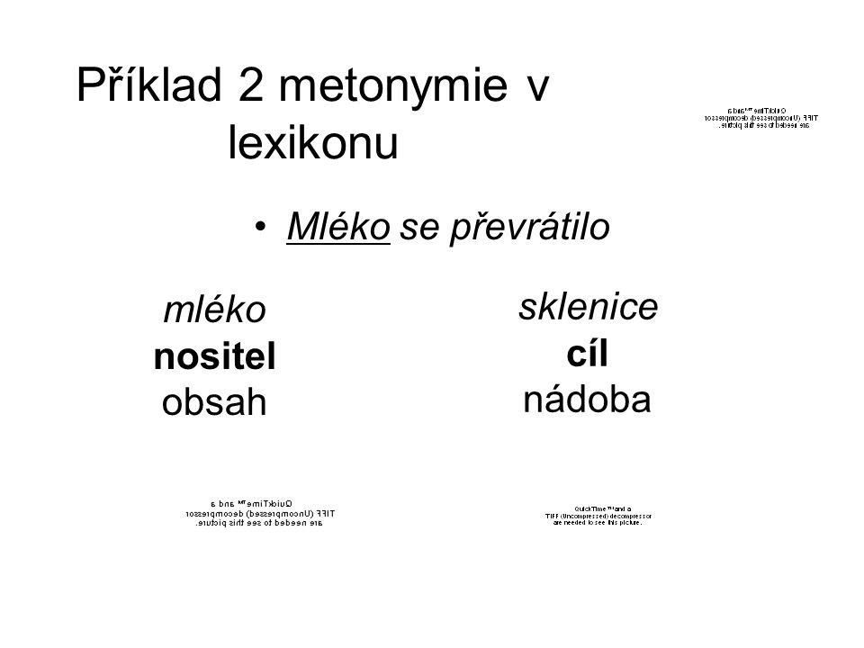 Příklad 2 metonymie v lexikonu