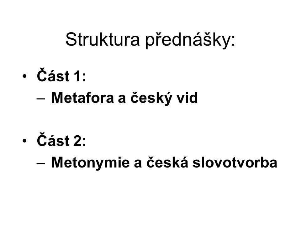 Struktura přednášky: Část 1: Metafora a český vid Část 2: