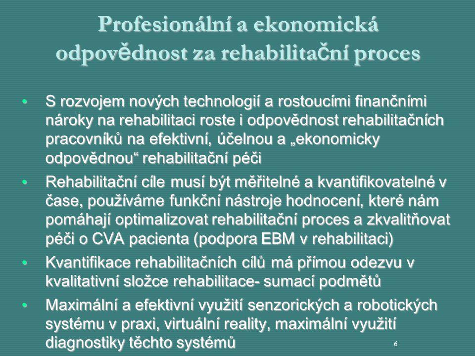 Profesionální a ekonomická odpovědnost za rehabilitační proces