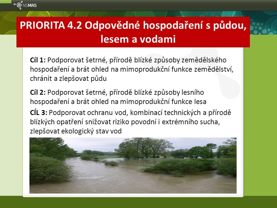 PRIORITA 4.2 Odpovědné hospodaření s půdou, lesem a vodami