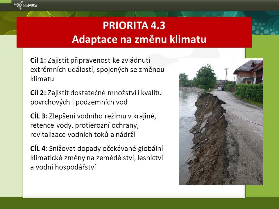 PRIORITA 4.3 Adaptace na změnu klimatu