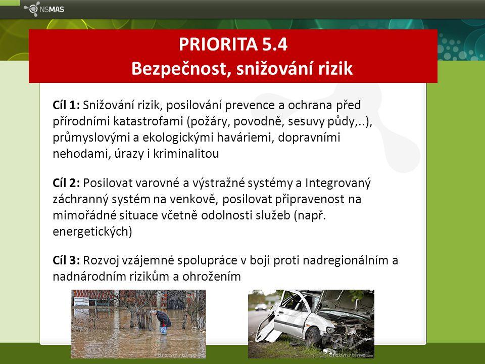 PRIORITA 5.4 Bezpečnost, snižování rizik