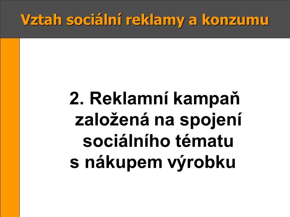 s nákupem výrobku Vztah sociální reklamy a konzumu