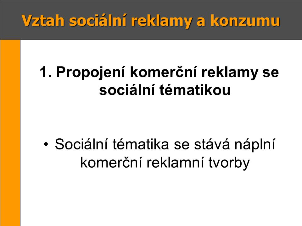 Vztah sociální reklamy a konzumu