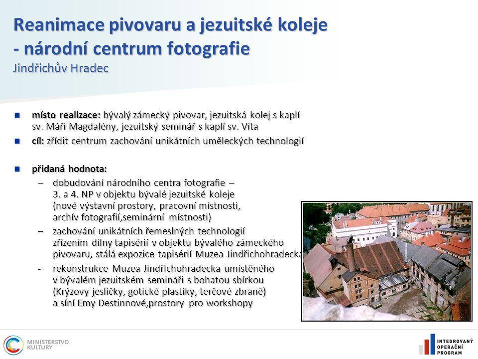 Reanimace pivovaru a jezuitské koleje - národní centrum fotografie Jindřichův Hradec