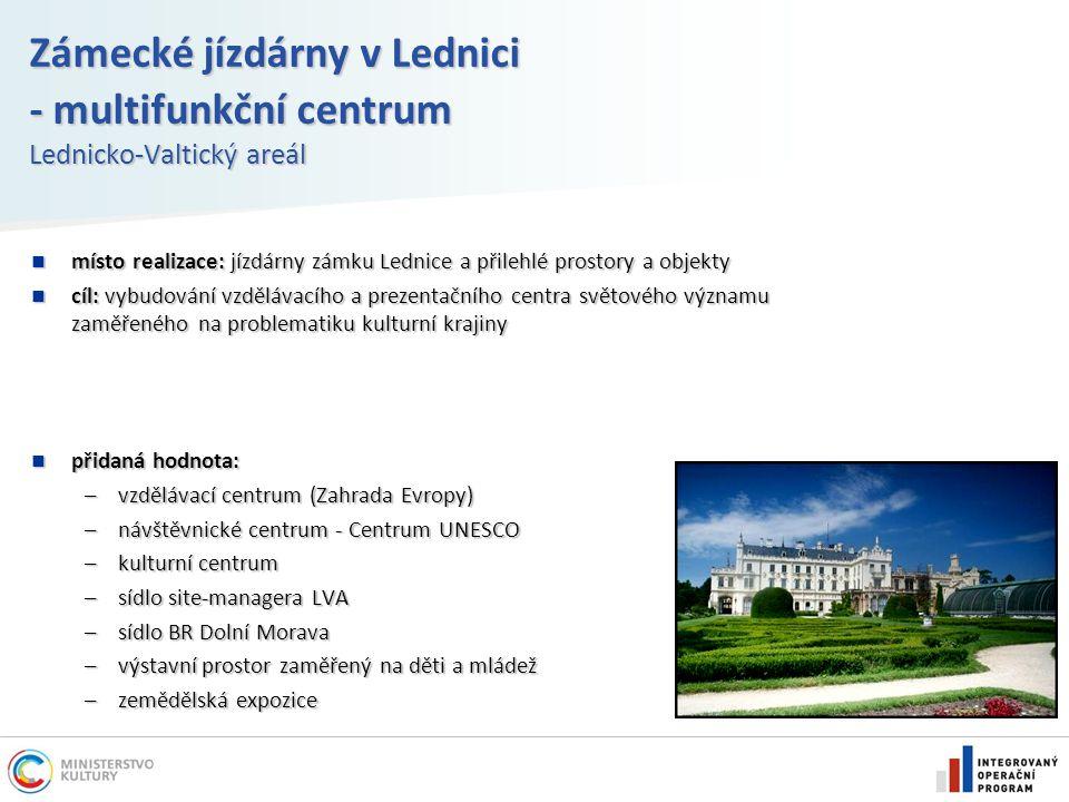 Zámecké jízdárny v Lednici - multifunkční centrum Lednicko-Valtický areál