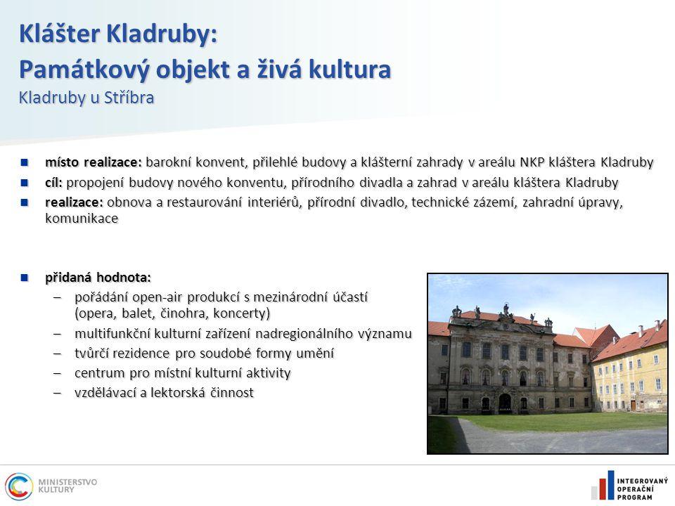 Klášter Kladruby: Památkový objekt a živá kultura Kladruby u Stříbra