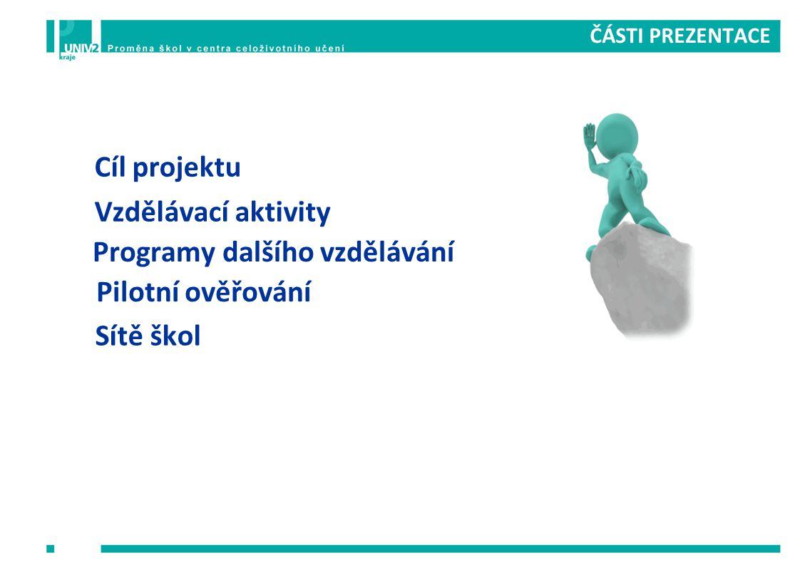Programy dalšího vzdělávání Pilotní ověřování Sítě škol