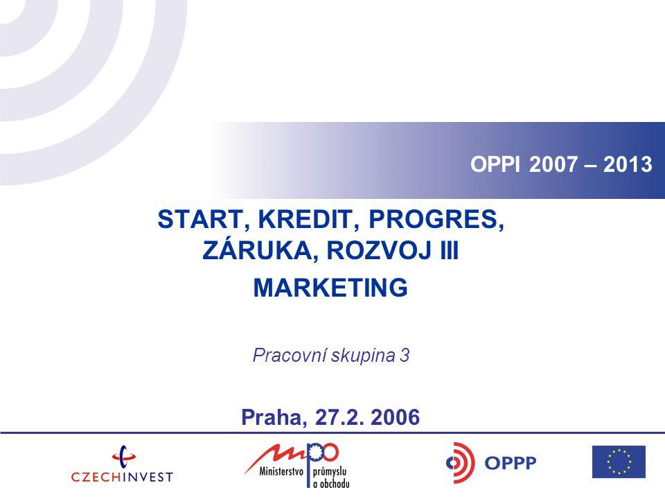 START, KREDIT, PROGRES, ZÁRUKA, ROZVOJ III