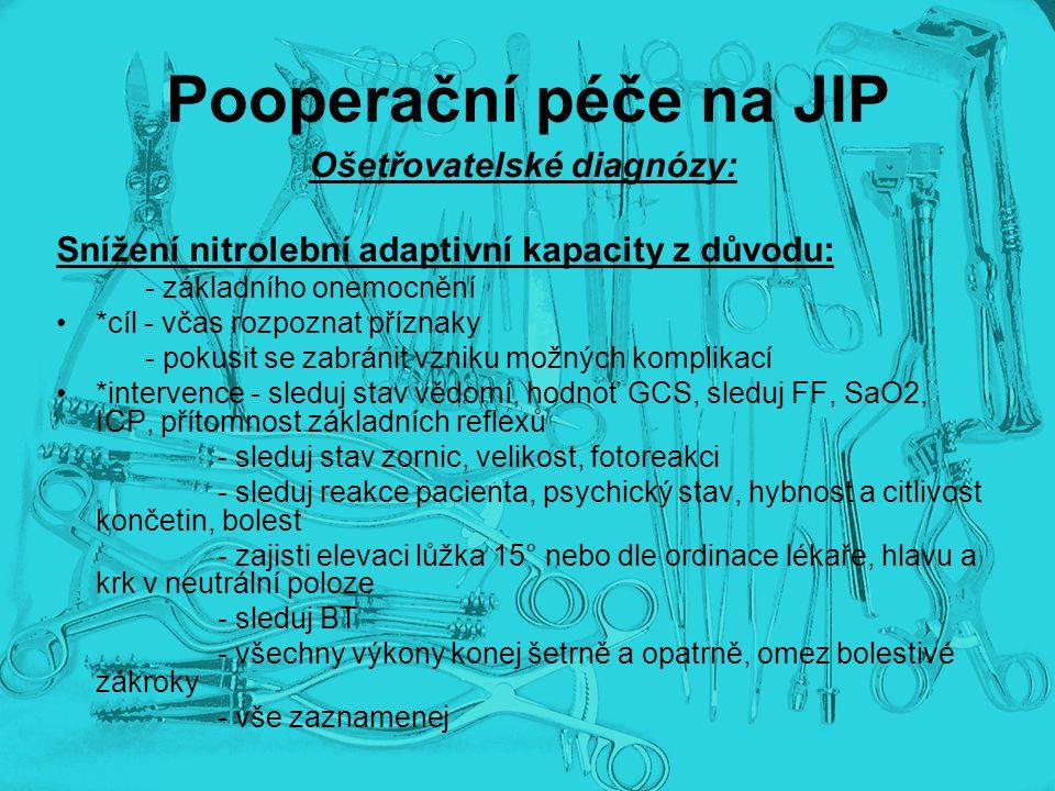 Ošetřovatelské diagnózy:
