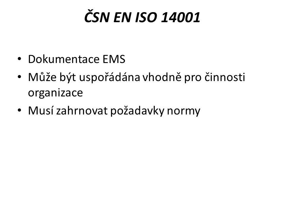 ČSN EN ISO 14001 Dokumentace EMS