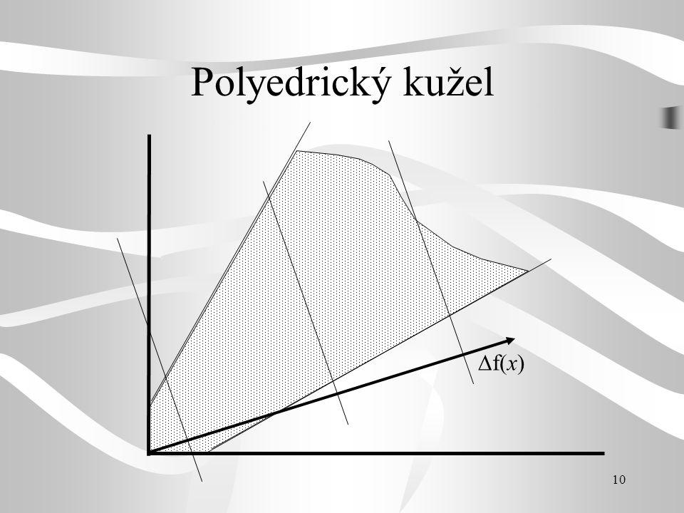 Polyedrický kužel f(x)