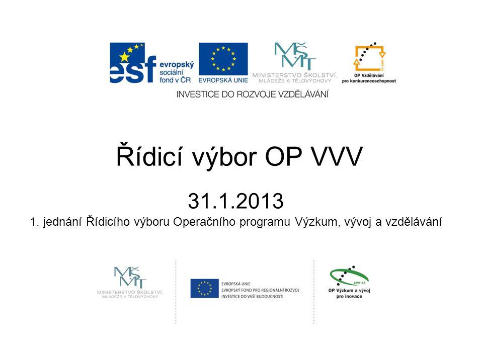 Řídicí výbor OP VVV 31.1.2013 1.