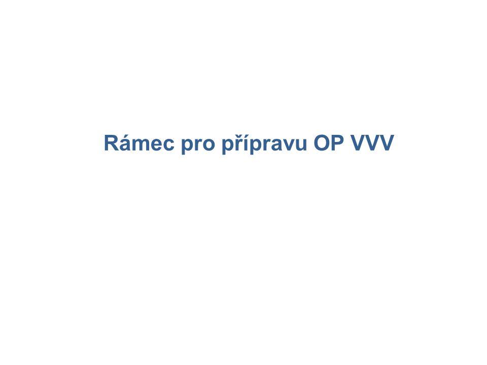 Rámec pro přípravu OP VVV