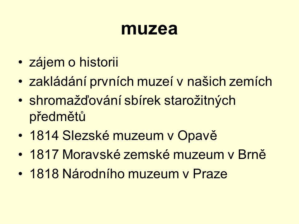 muzea zájem o historii zakládání prvních muzeí v našich zemích